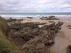 Rocks, Crooklets beach, Bude, Cornwall - 2013.
