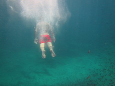 Discovering sea swimming, Mallorca - 2015.