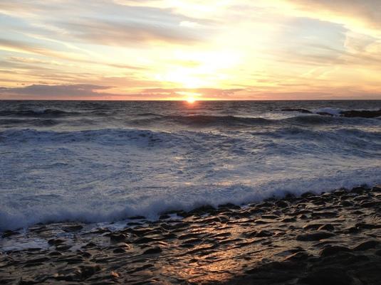 Sunset, The Breakwater, Bude, Cornwall - 2013.